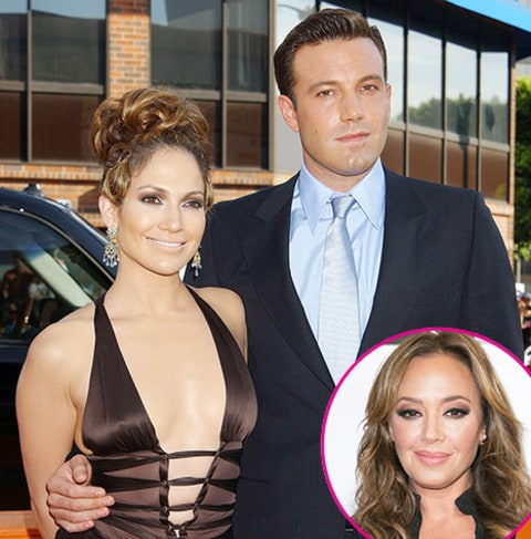 Leah Remini Jennifer Lopez and Ben Affleck