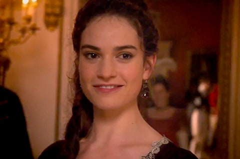 Lily James in Pride and Prejudice and Zombies.