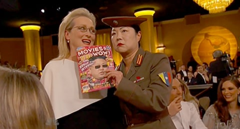 Margaret Cho and Meryl Streep with magazine