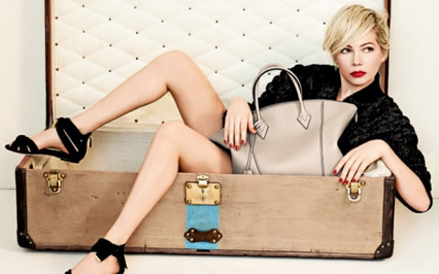 Michelle Williams Louis Vuitton Trunk