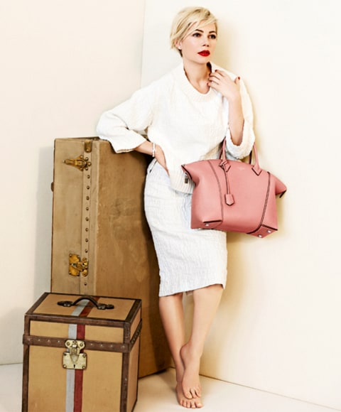 Michelle Williams Louis Vuitton Luggage