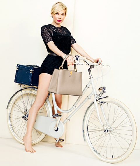 Michelle Williams Louis Vuitton Bicycle