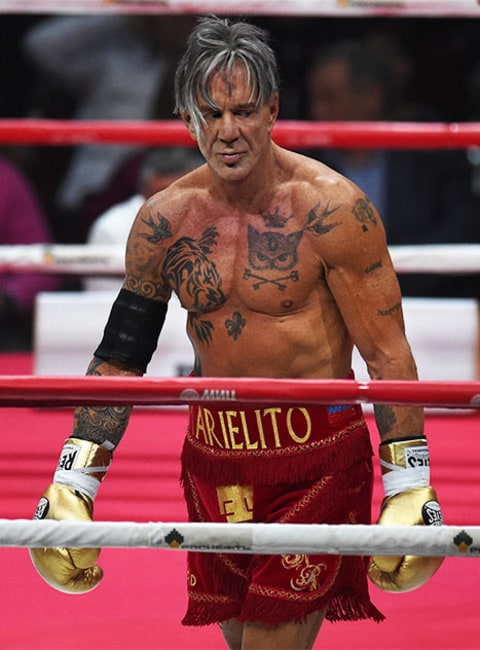 Mickey Rourke, 62, Win...