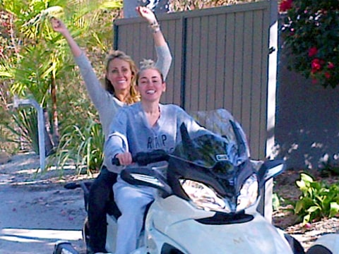 Miley Cyrus and Tish Cyrus