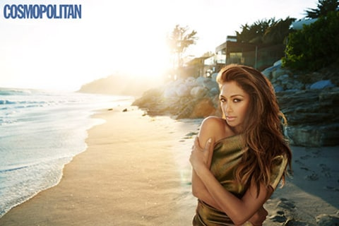 Nicole Scherzinger inside of cosmo by beach