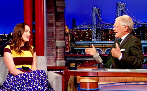 Olivia Wilde and David Letterman
