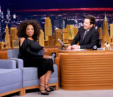 Oprah Winfrey and Jimmy Fallon