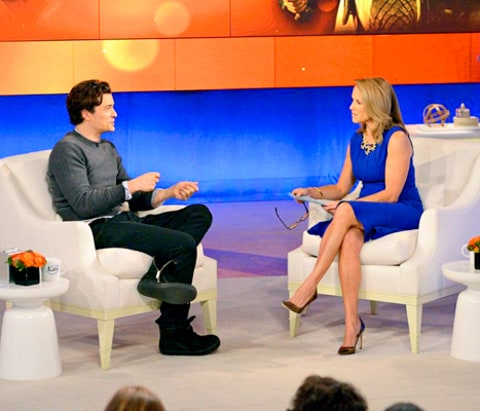 Orlando Bloom and Katie Couric