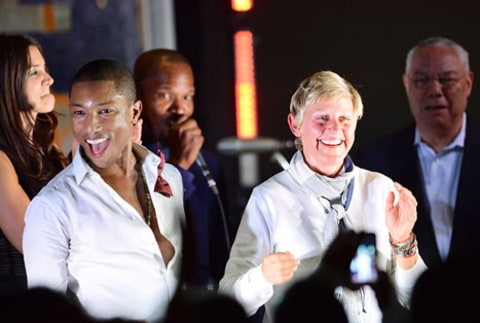 pharrell and ellen degeneres