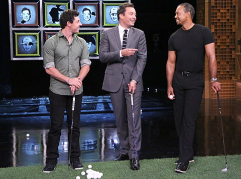 Rory McIlroy and Tiger Woods on Jimmy