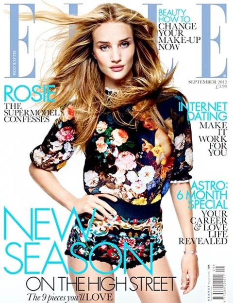 rosie huntington-whitely elle cover