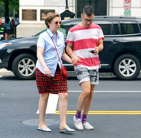 Lena Dunham and Jack Antonoff