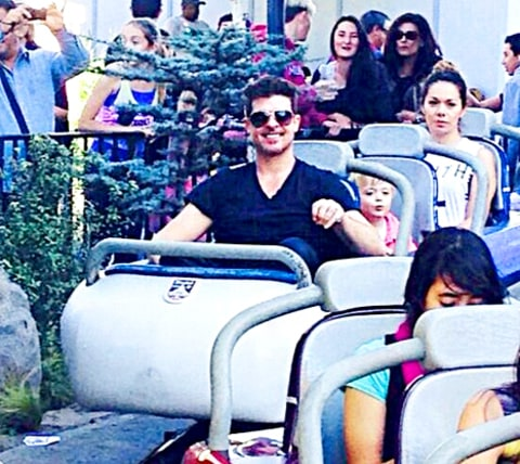 Robin Thicke and Julian Disneyland