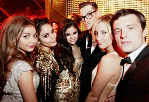 Sarah Hyland, Vanessa Hudson, Selena Gomez, Ashley Tisdale and Josh Hutcherson