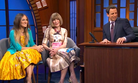 Sarah Jessica Parker, Anna Wintour and Seth Meyers