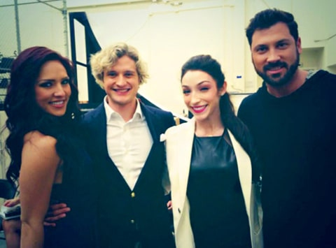 Sharna Burgess, Charlie White, Meryl Davis and Maksim Chmerkovskiy