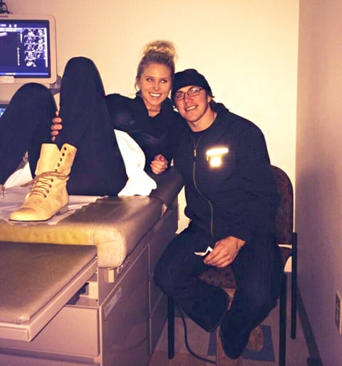 T.J. Oshie and Pregnant Fiance Lauren Cosgrove