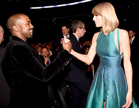 Kanye and Taylor Swift shake it off (hands)