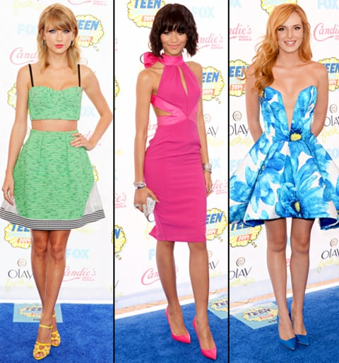 Bright Colors Teen Choice Awards