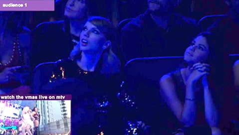 Taylor Swift and Selena Gomez watch Demi Lovato