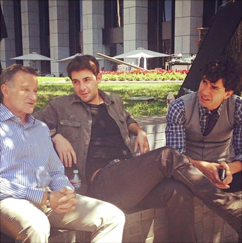 Robin Williams, James Wolk and Hamish Linklater