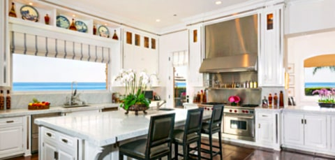 Yolanda Foster and David Foster Kitchen