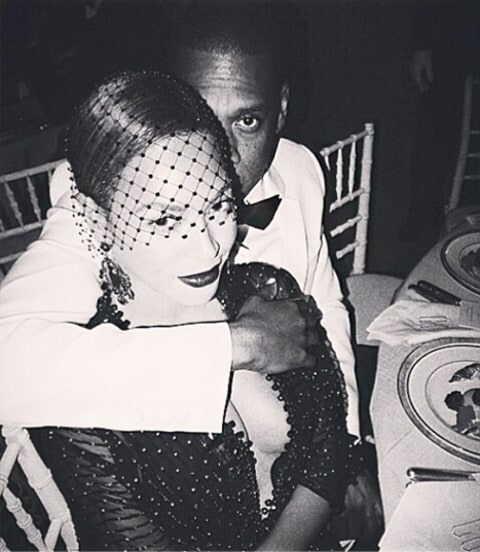 Beyonce and Jay Z Inside Met Gala Instagram