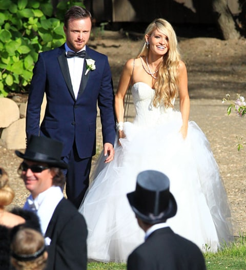 aaron paul lauren parkesian wedding