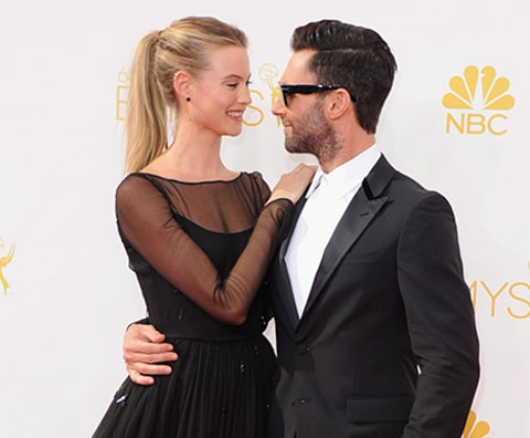 Adam and Behati Emmys