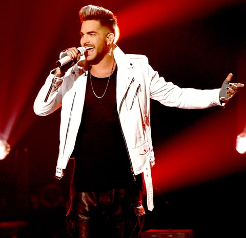 Adam Lambert performs onstage at FOX's American Idol Season 15 on March 17, 2016.