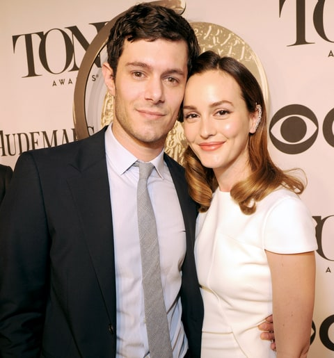 Adam Brody and Leighton Meester attend the 68th Annual Tony Awards at Radio City Music Hall in 2014.