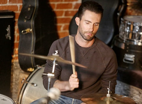 adam levine drumming