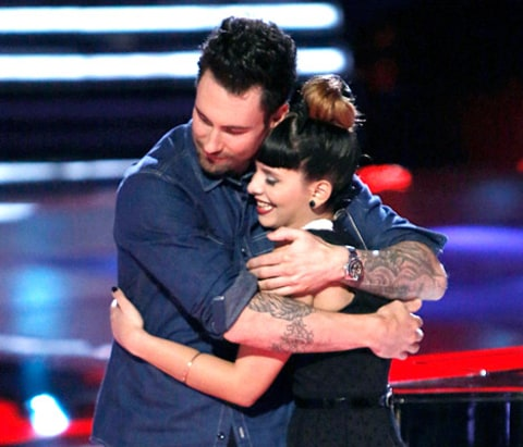 Adam Levine and Melanie Martinez