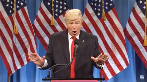 SNL's Alec Baldwin pokes fun at Trump's latest scandals