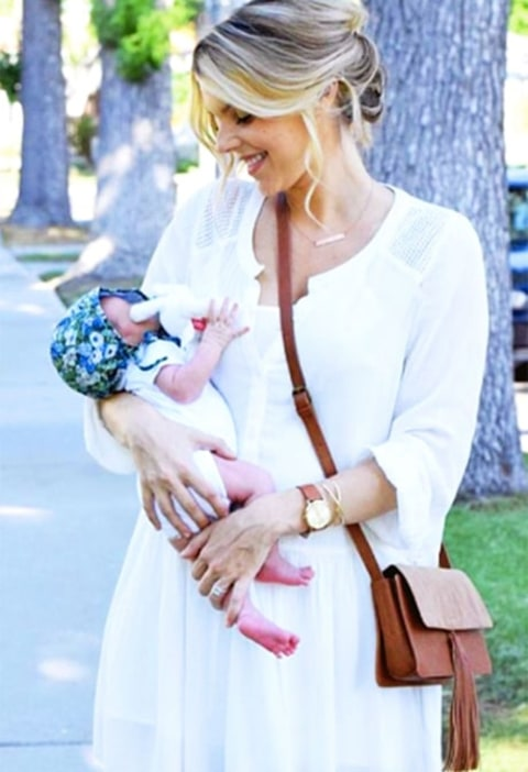 Ali Fedotowsky and her daughter Molly