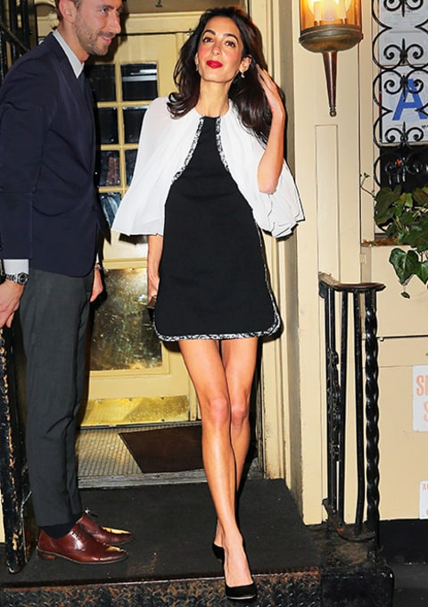 Amal Alamuddin Shows Off Her Long Legs in Flirty Floral