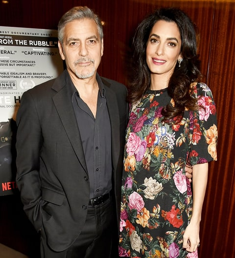 Amal talks genocide but media tweets baby bump