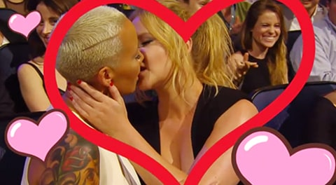 amber rose and amy schumer make out