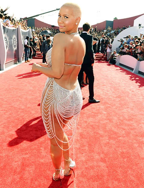 amber rose VMAs back view