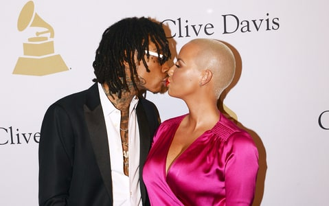 Image result for amber rose and wiz khalifa kiss
