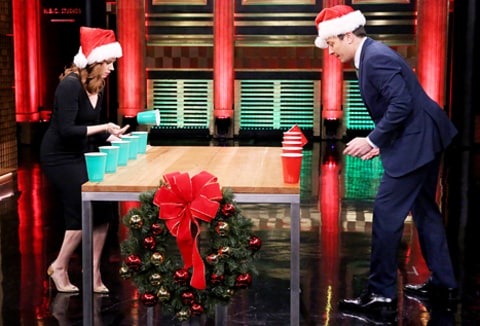 amy adams playing flip cup
