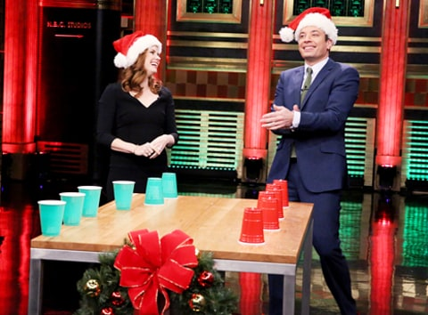 amy adams loses flip cup