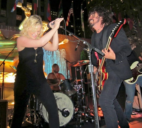 Poehler and Grohl