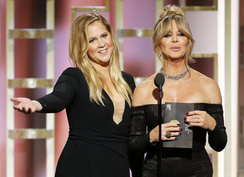 Amy Schumer Goldie Hawn Golden Globes
