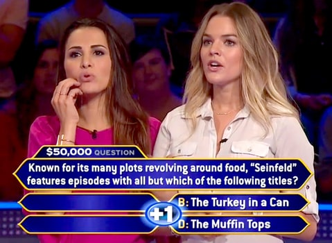 Andi Dorfman and Nikki Ferrell on 'Who Wants to Be a Millionaire'