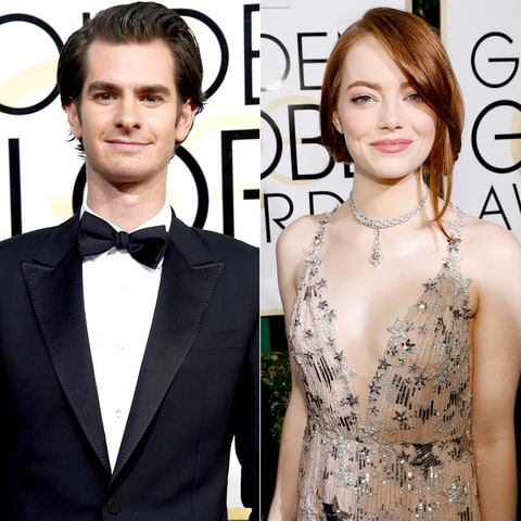 Emma Stone and Andrew Garfield in Golden Globe awards