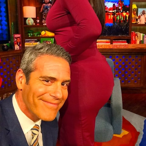 Andy Cohen and Kim Kardashian selfie