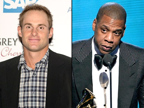 Andy Roddick and Jay-Z