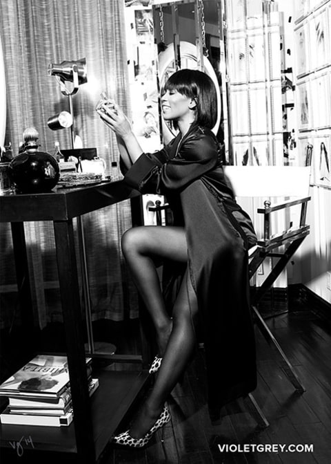 Angela Basset for Violet grey