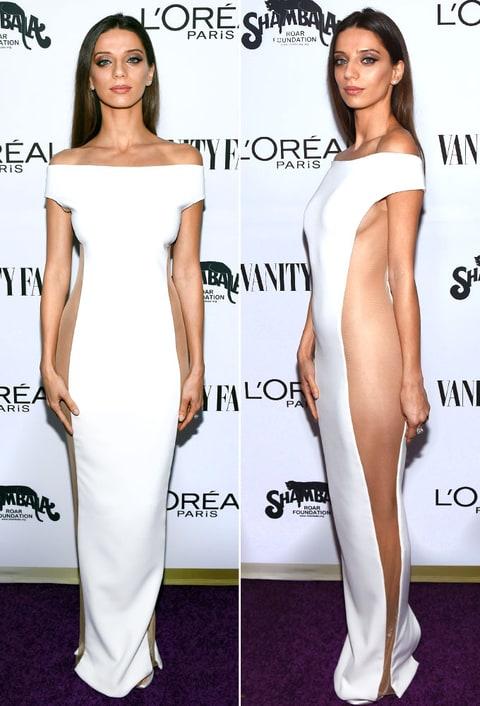 westworld actress angela sarafyan wears sheer dress photos   us weekly